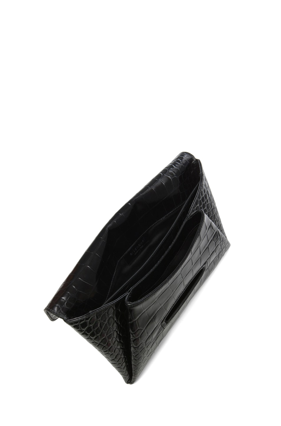 Image 4 of GIVENCHY Antigona Croc Envelope Clutch in Black