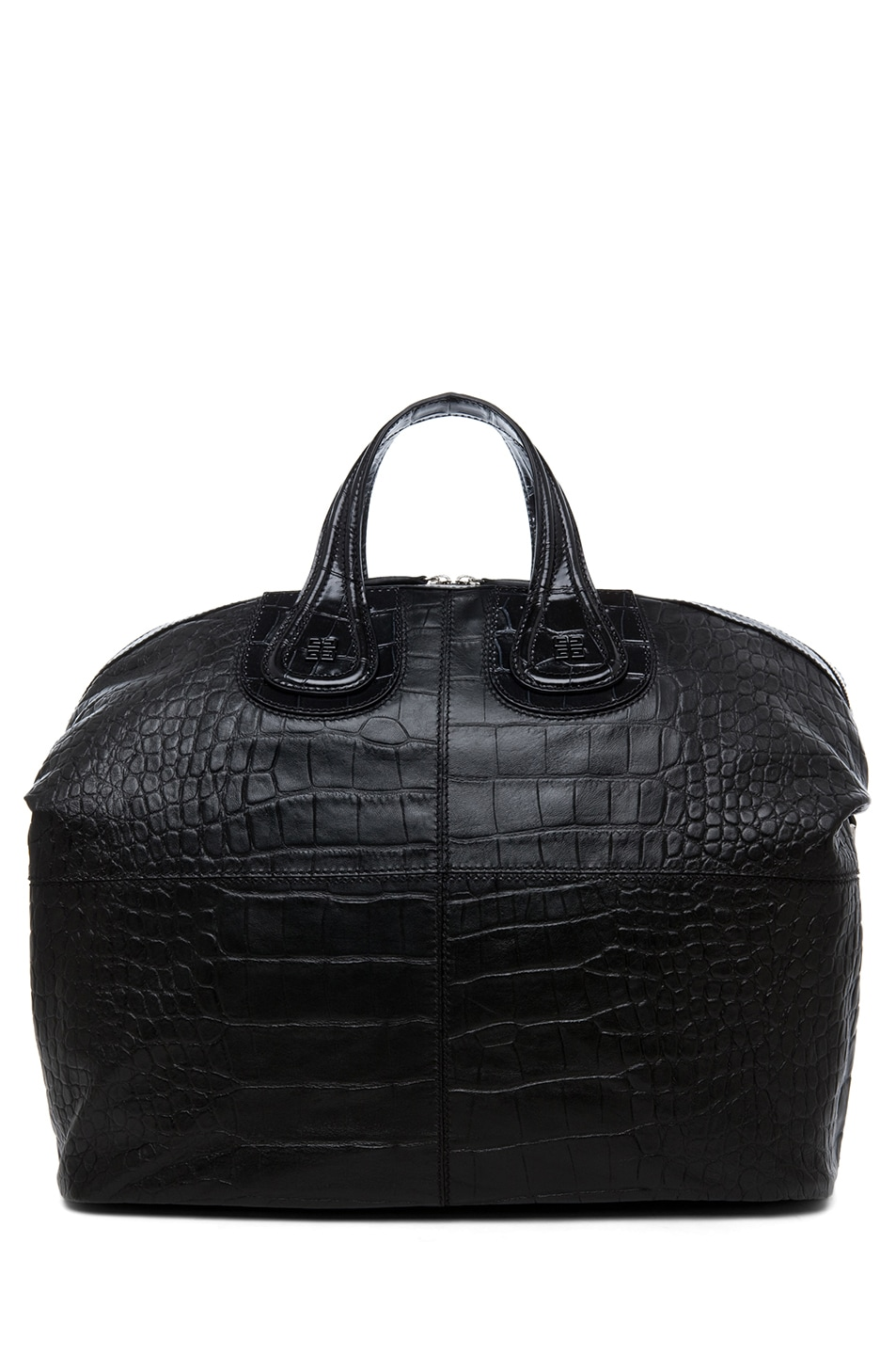 Image 2 of GIVENCHY Large Nightingale Stamped Croc in Black