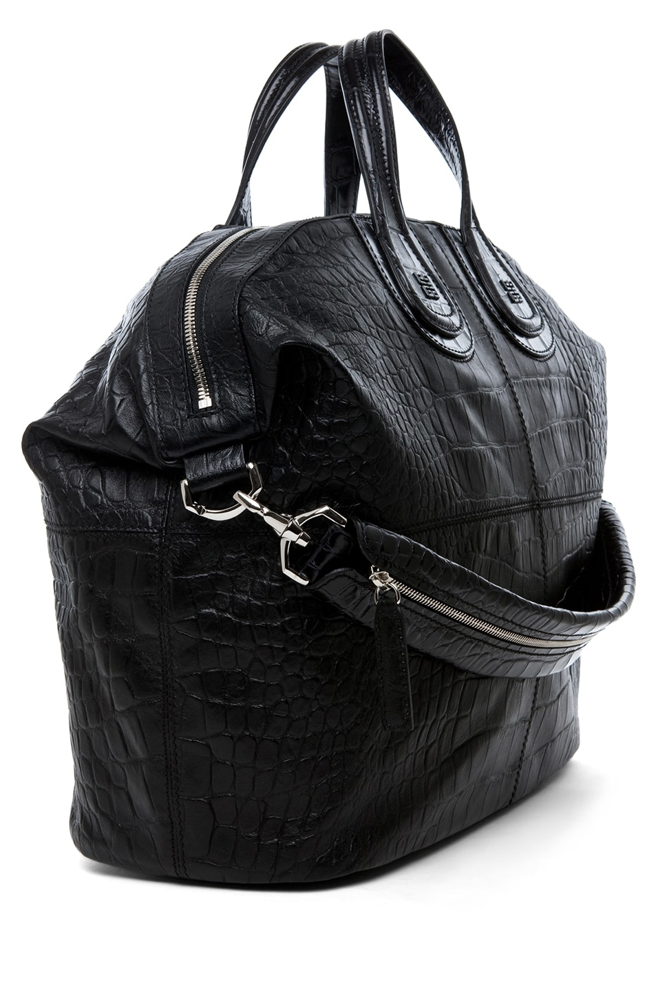 Image 3 of GIVENCHY Large Nightingale Stamped Croc in Black