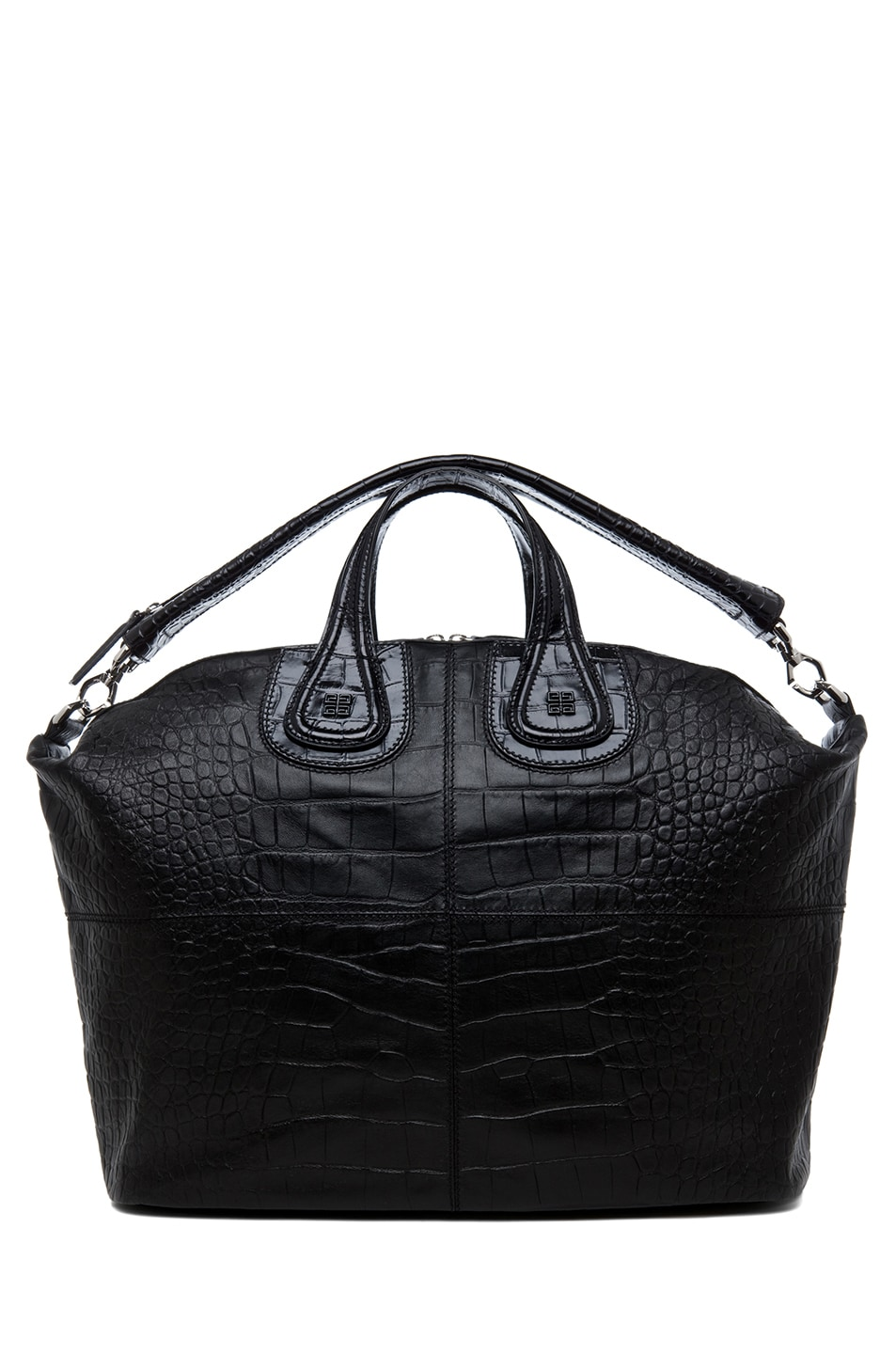 Image 5 of GIVENCHY Large Nightingale Stamped Croc in Black