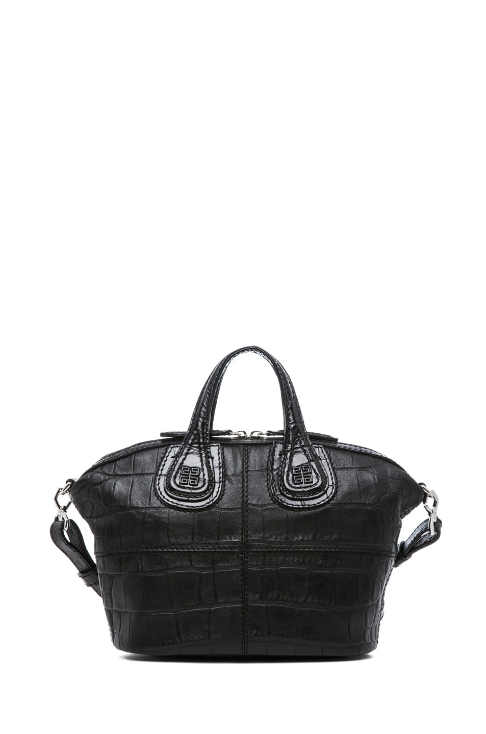 Image 2 of GIVENCHY Micro Stamped Croc Nightingale in Black