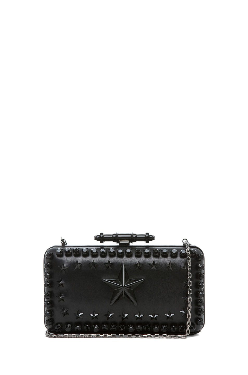 Image 1 of GIVENCHY Obsedia Star-Studded Minaudiere in Black