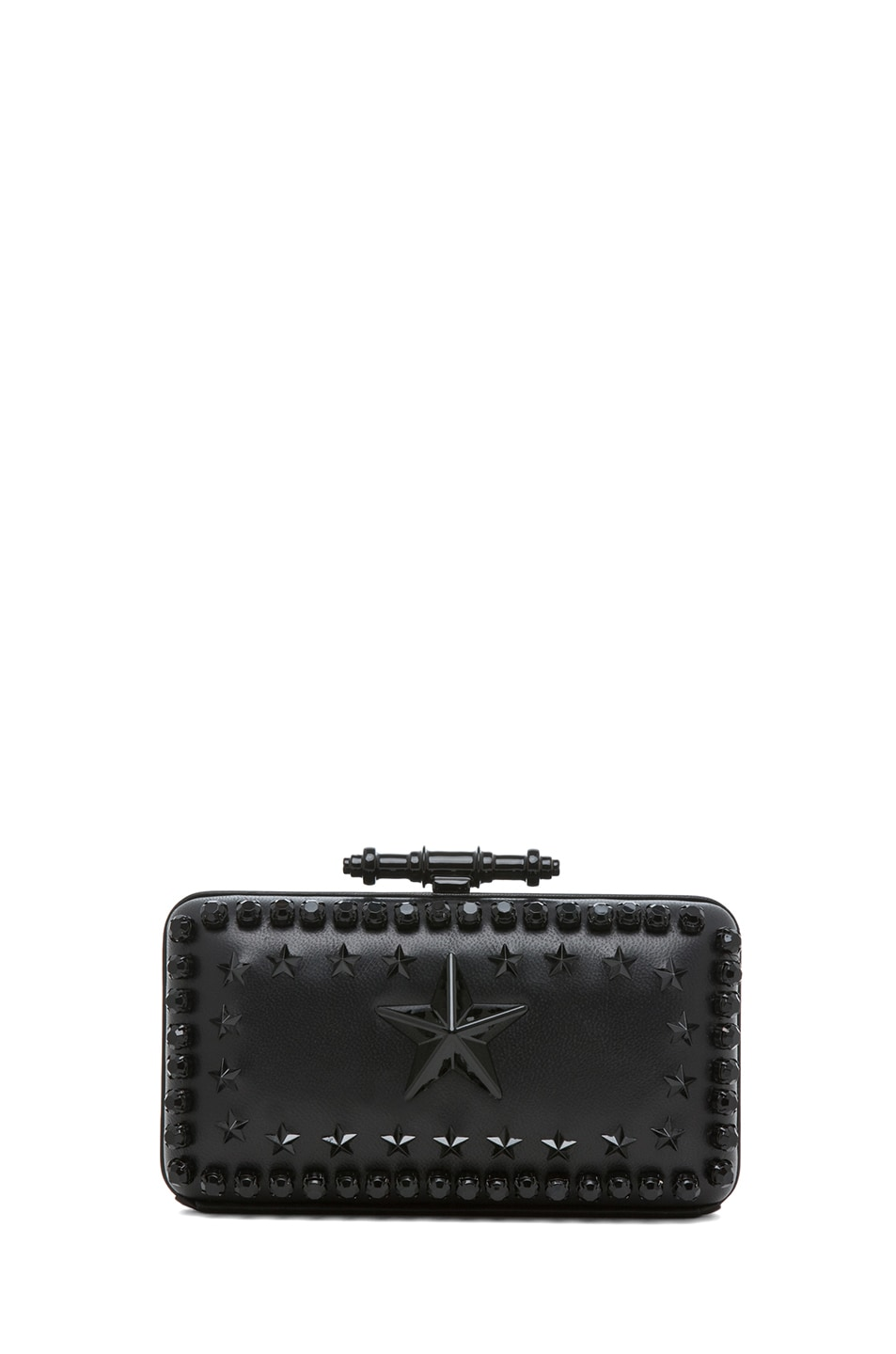 Image 2 of GIVENCHY Obsedia Star-Studded Minaudiere in Black