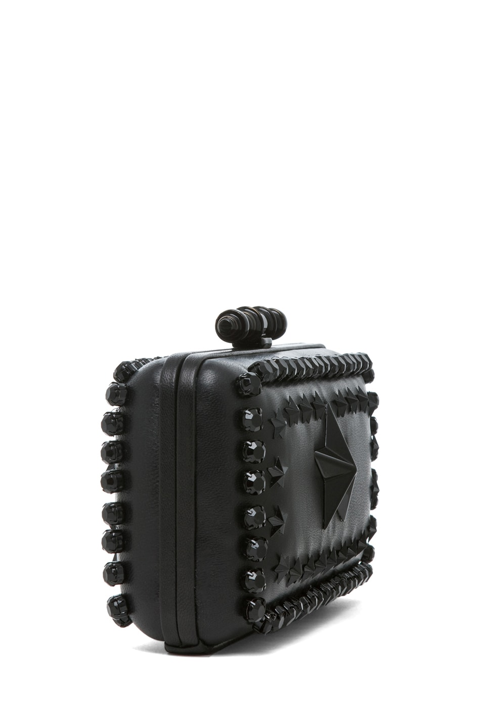 Image 3 of GIVENCHY Obsedia Star-Studded Minaudiere in Black