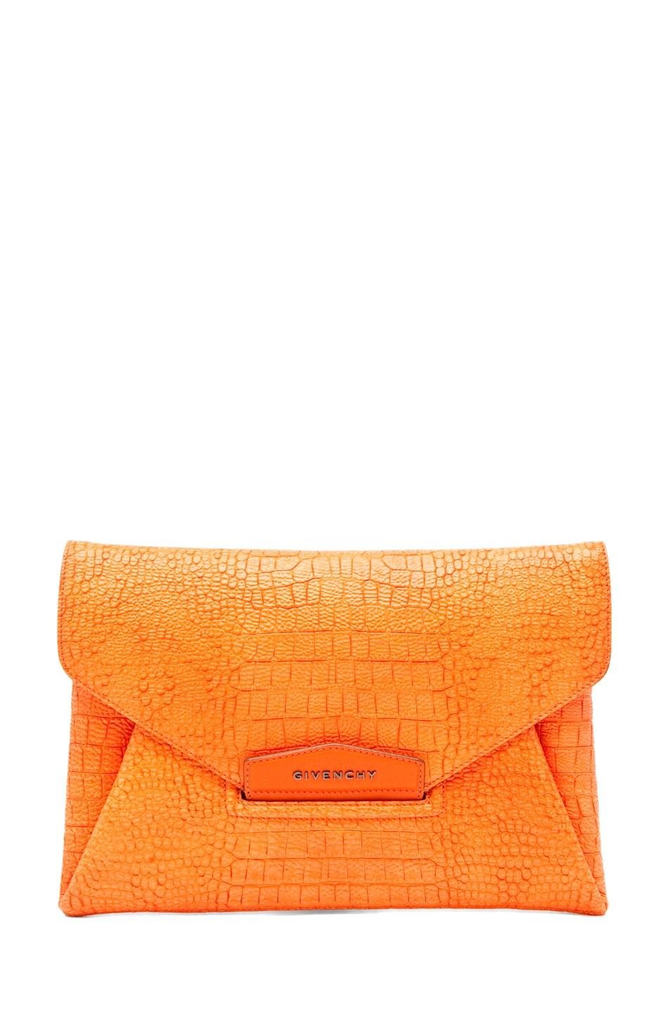 Image 1 of GIVENCHY Envelope Clutch in Orange
