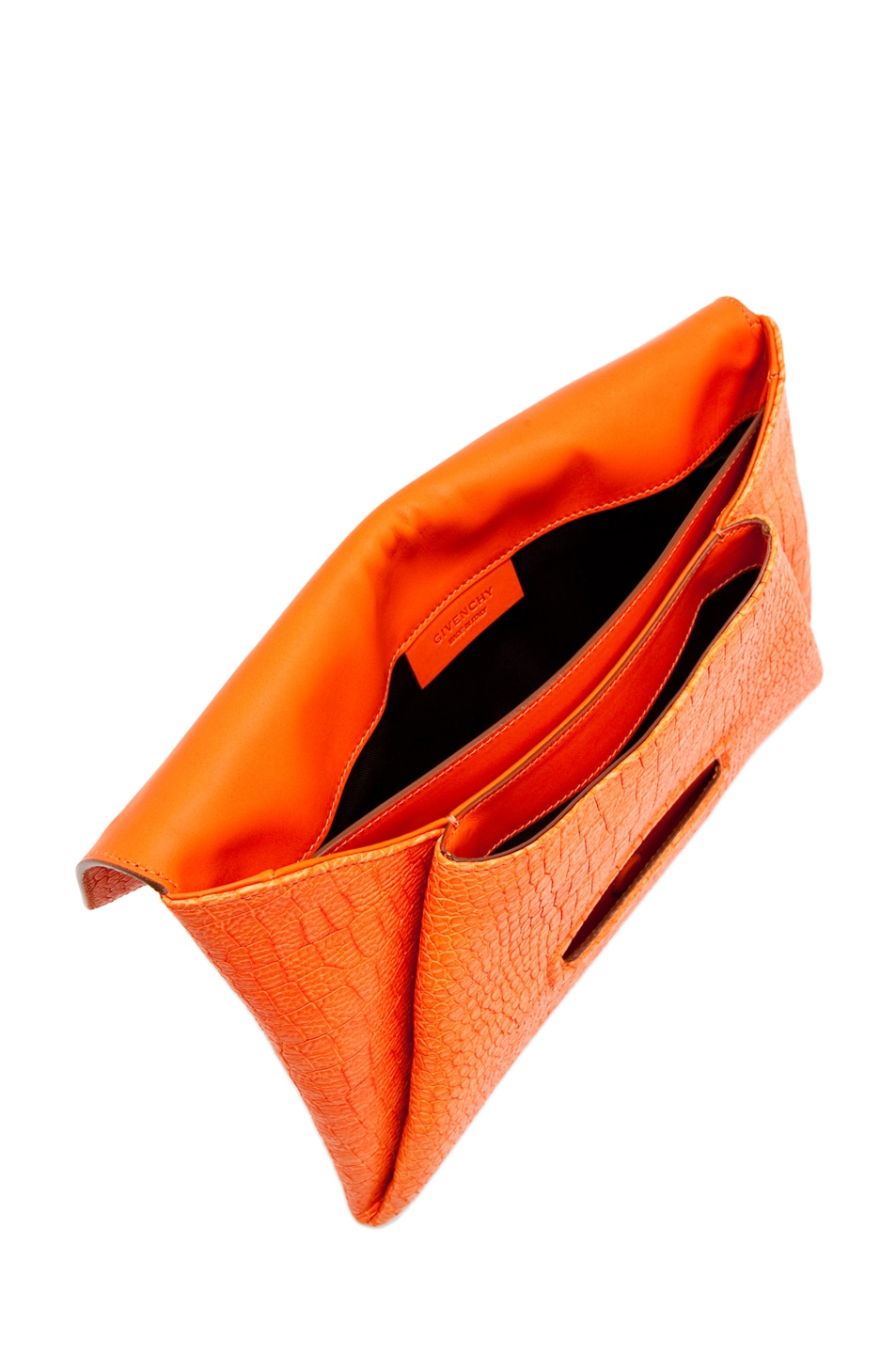 Image 4 of GIVENCHY Envelope Clutch in Orange