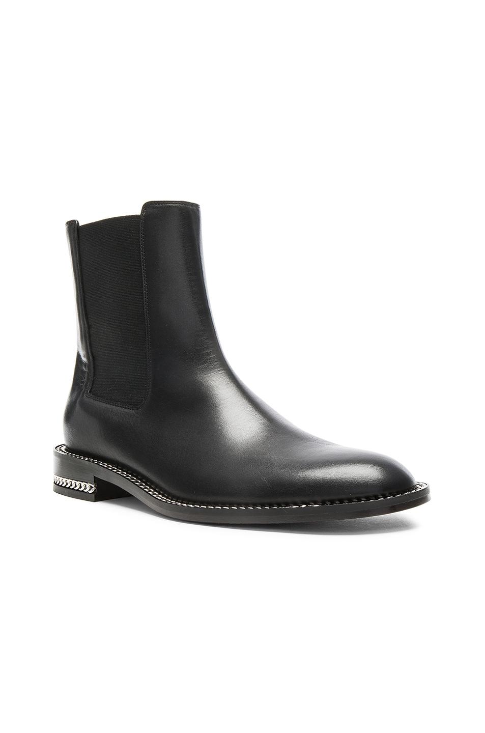 givenchy chain trim leather chelsea boots