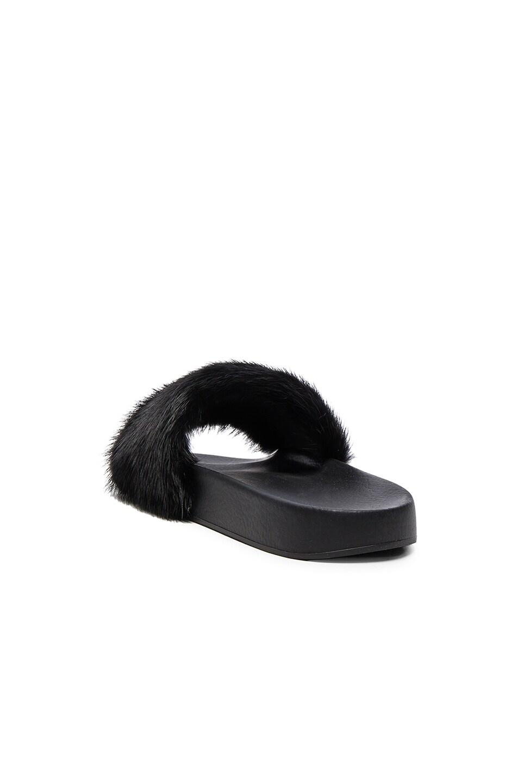 Image 3 of Givenchy Mink Fur Slides in Black