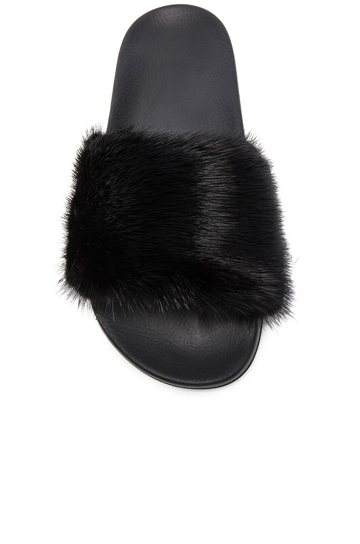 Image 4 of Givenchy Mink Fur Slides in Black
