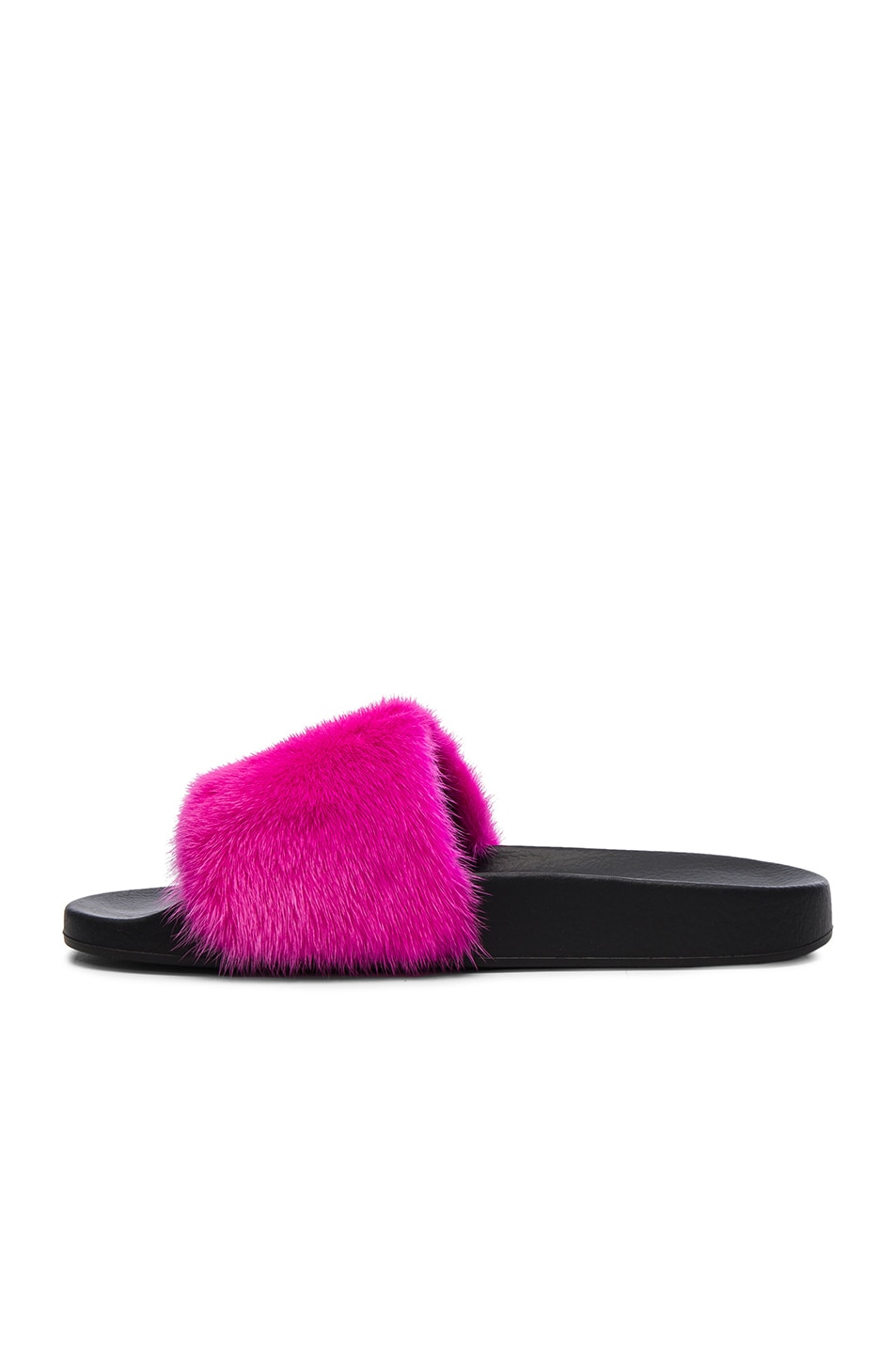 Image 5 of Givenchy Mink Fur Slides in Fuchsia