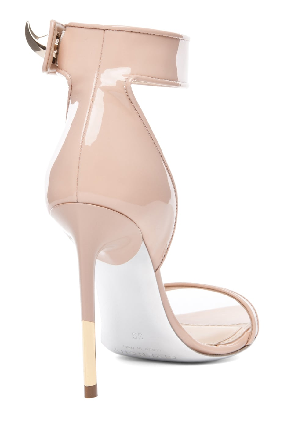 Image 3 of GIVENCHY Guerra Patent Leather Heel in Salmon