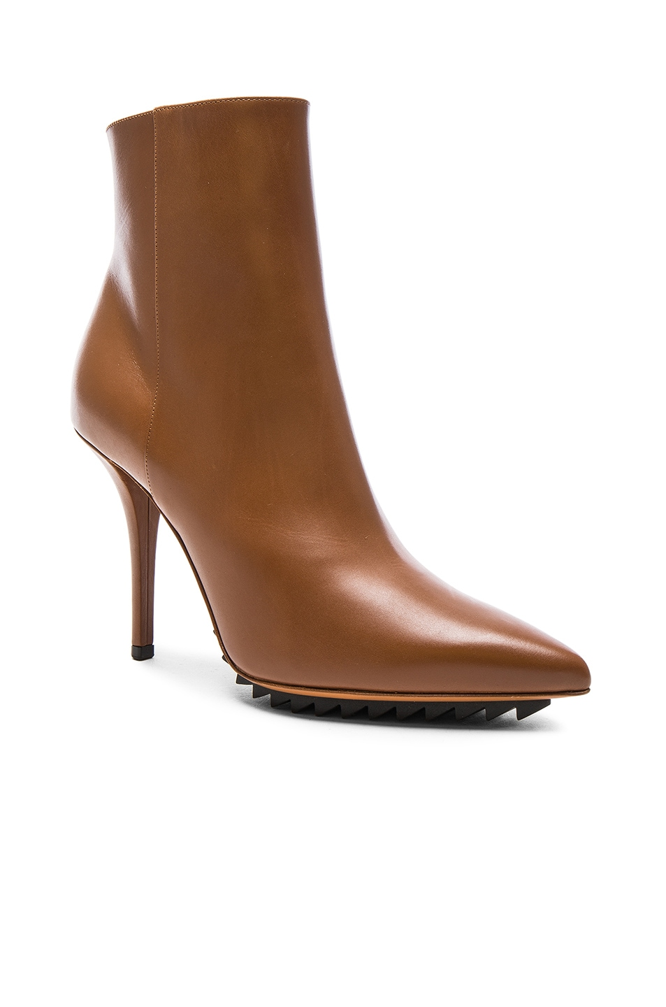 Image 2 of Givenchy Iron Ankle Leather Booties in Camel