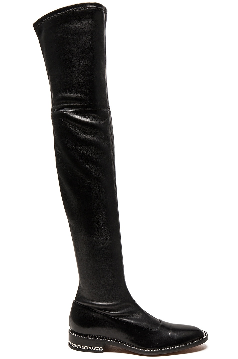 givenchy stretch leather the knee boots in black fwrd