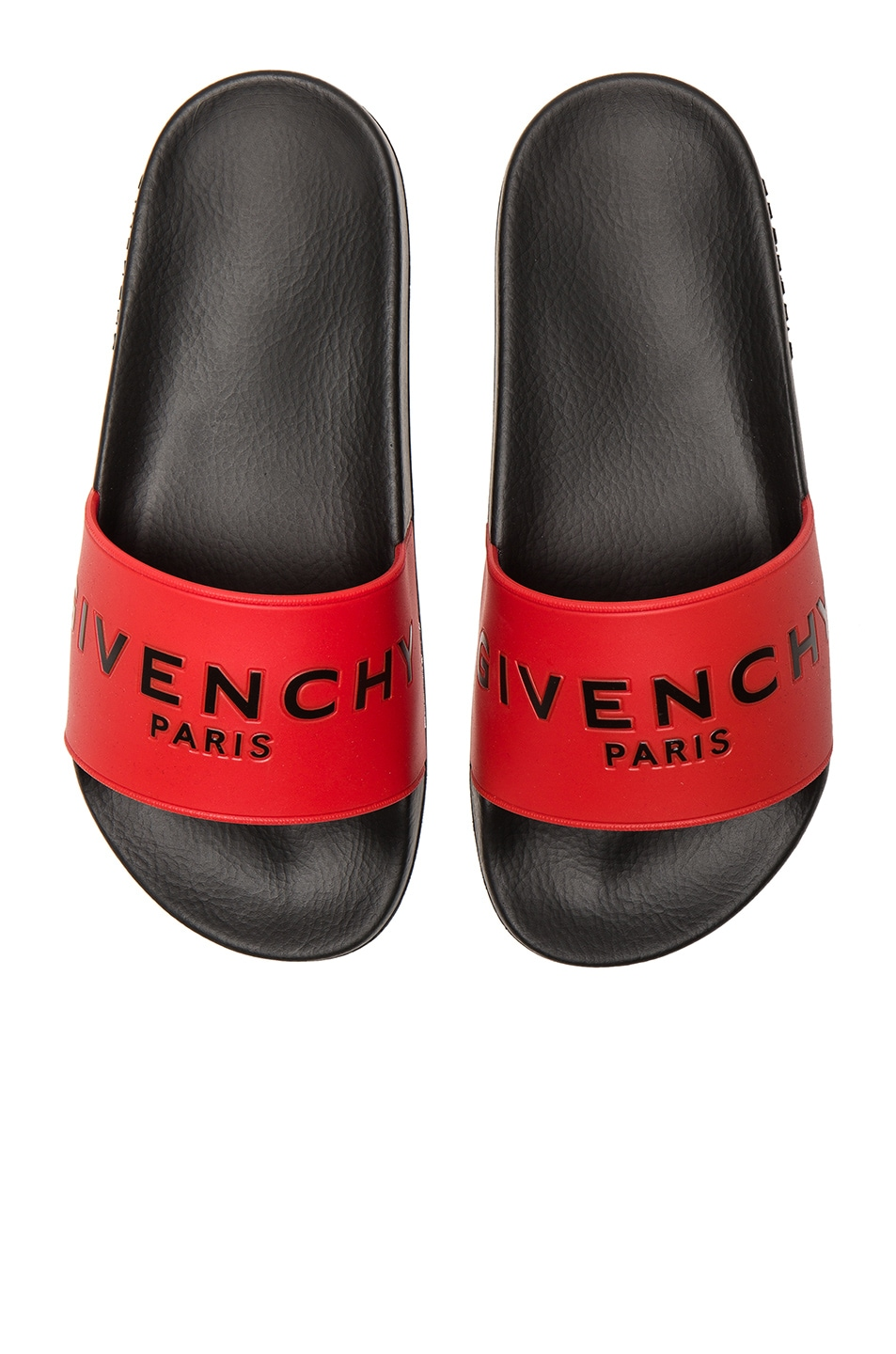 Image 1 of Givenchy Printed Rubber Slide Sandals in Red
