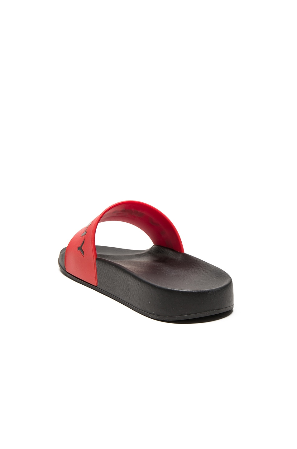 Image 4 of Givenchy Printed Rubber Slide Sandals in Red
