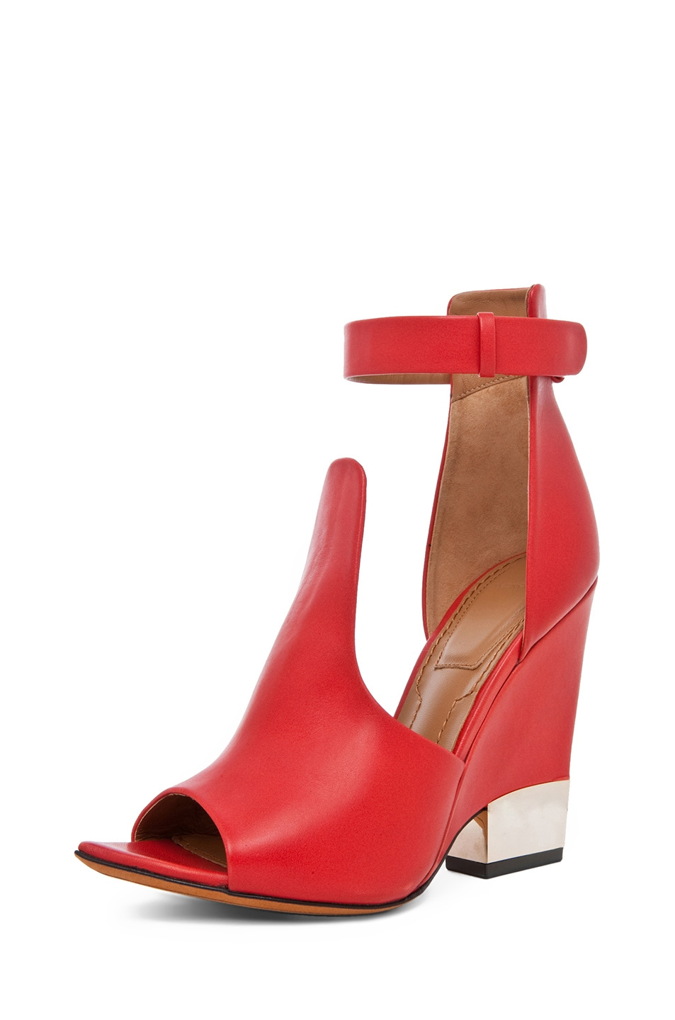 Image 2 of GIVENCHY Podium Ankle Strap Sandal in Nappa Red