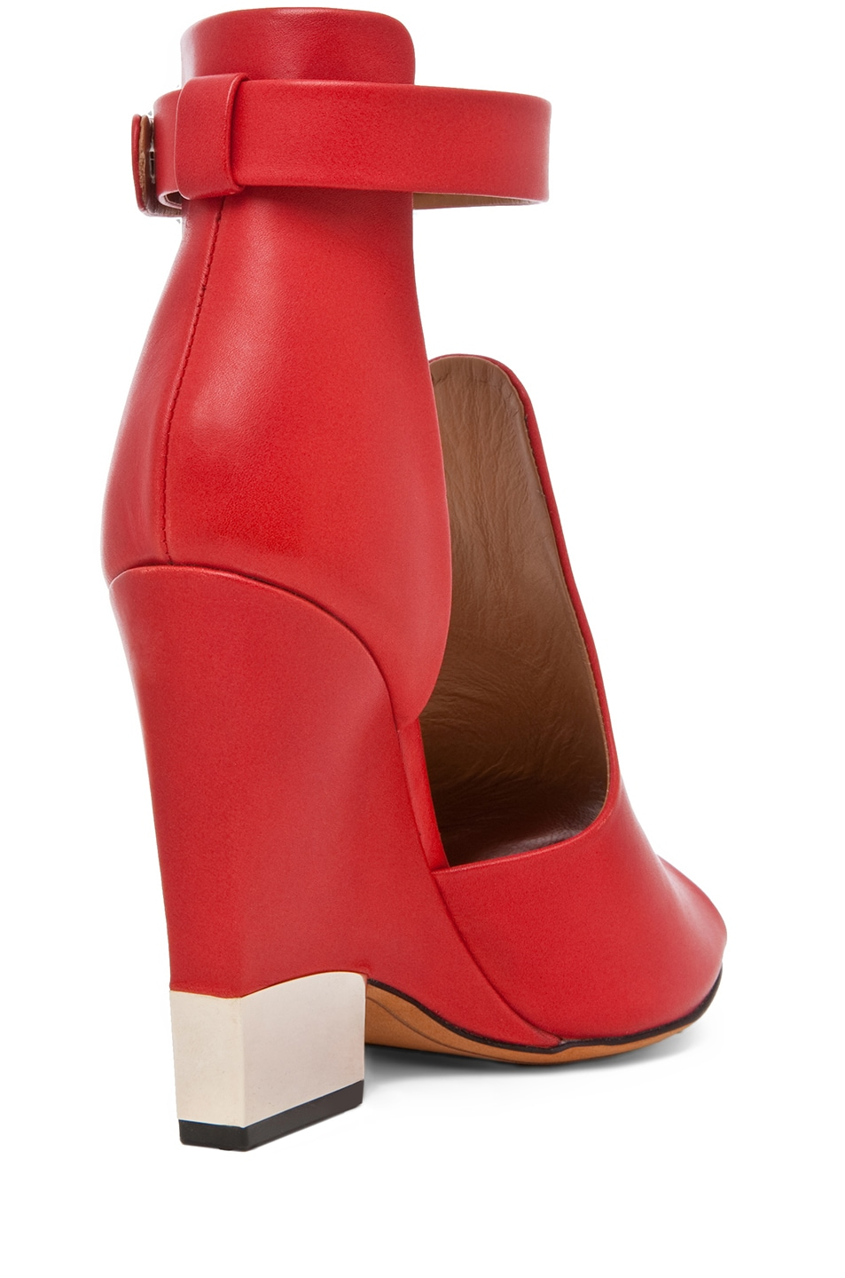 Image 3 of GIVENCHY Podium Ankle Strap Sandal in Nappa Red