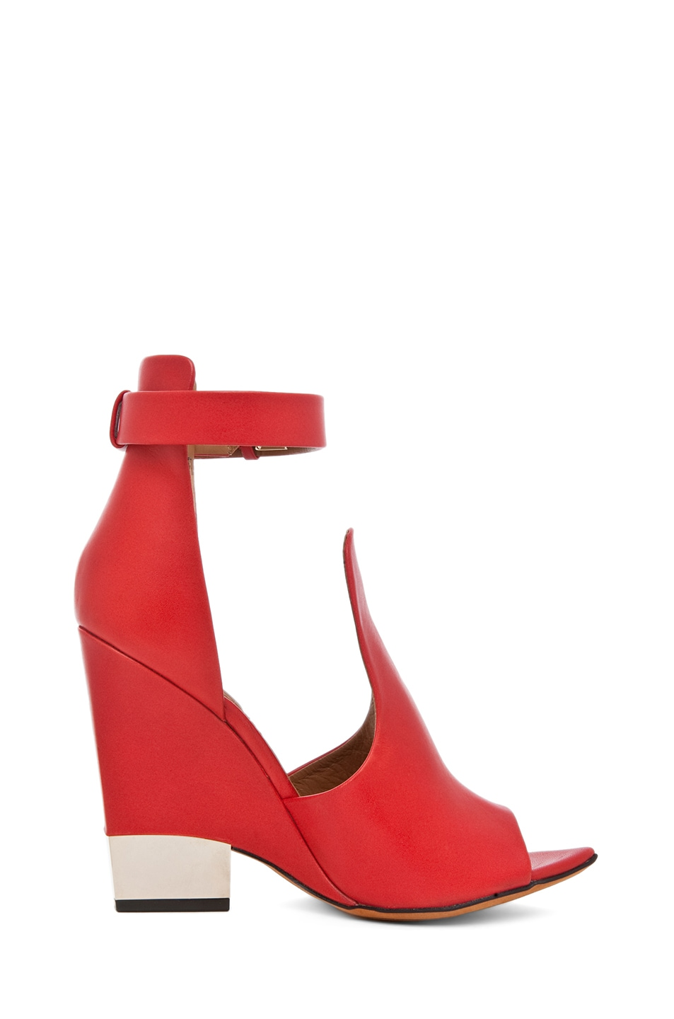Image 5 of GIVENCHY Podium Ankle Strap Sandal in Nappa Red