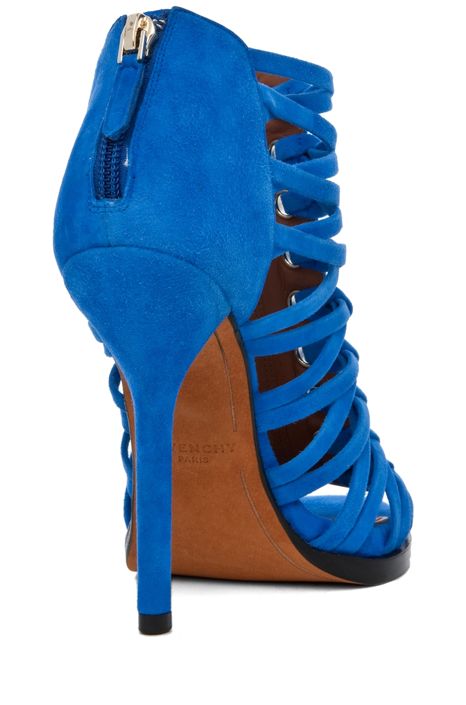 Image 3 of GIVENCHY Zenaide Suede Nautical Eyelet Heel in Blue