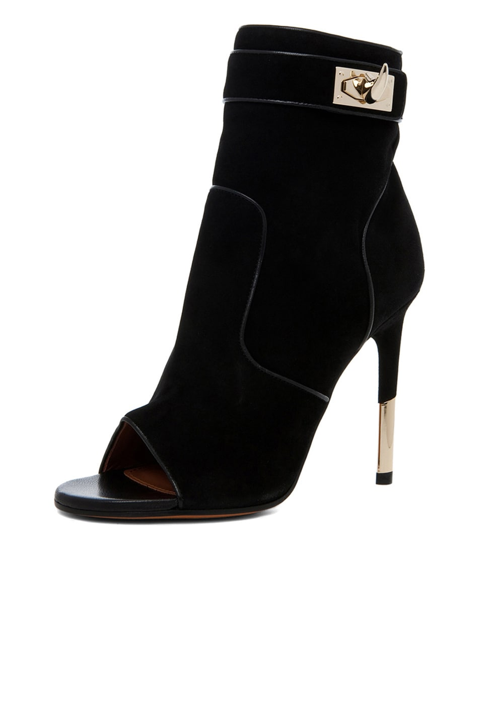 Image 2 of GIVENCHY Dunke Suede Nappa Shark Lock Bootie in Black