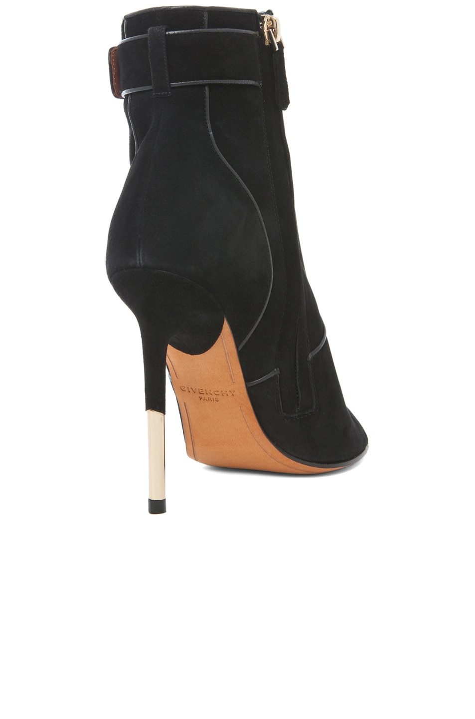 Image 3 of GIVENCHY Dunke Suede Nappa Shark Lock Bootie in Black