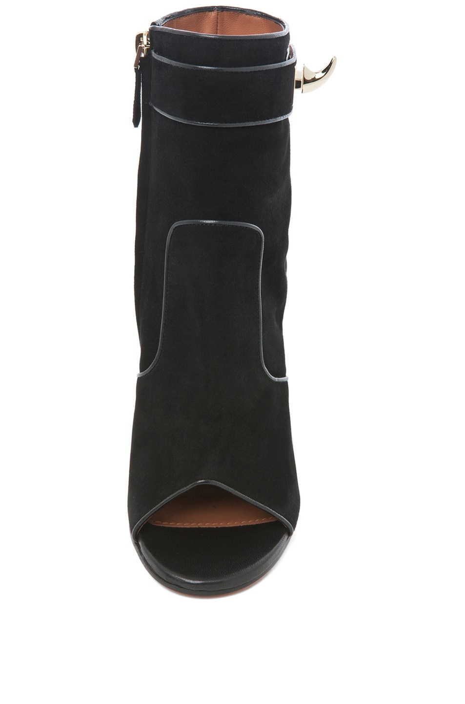 Image 4 of GIVENCHY Dunke Suede Nappa Shark Lock Bootie in Black
