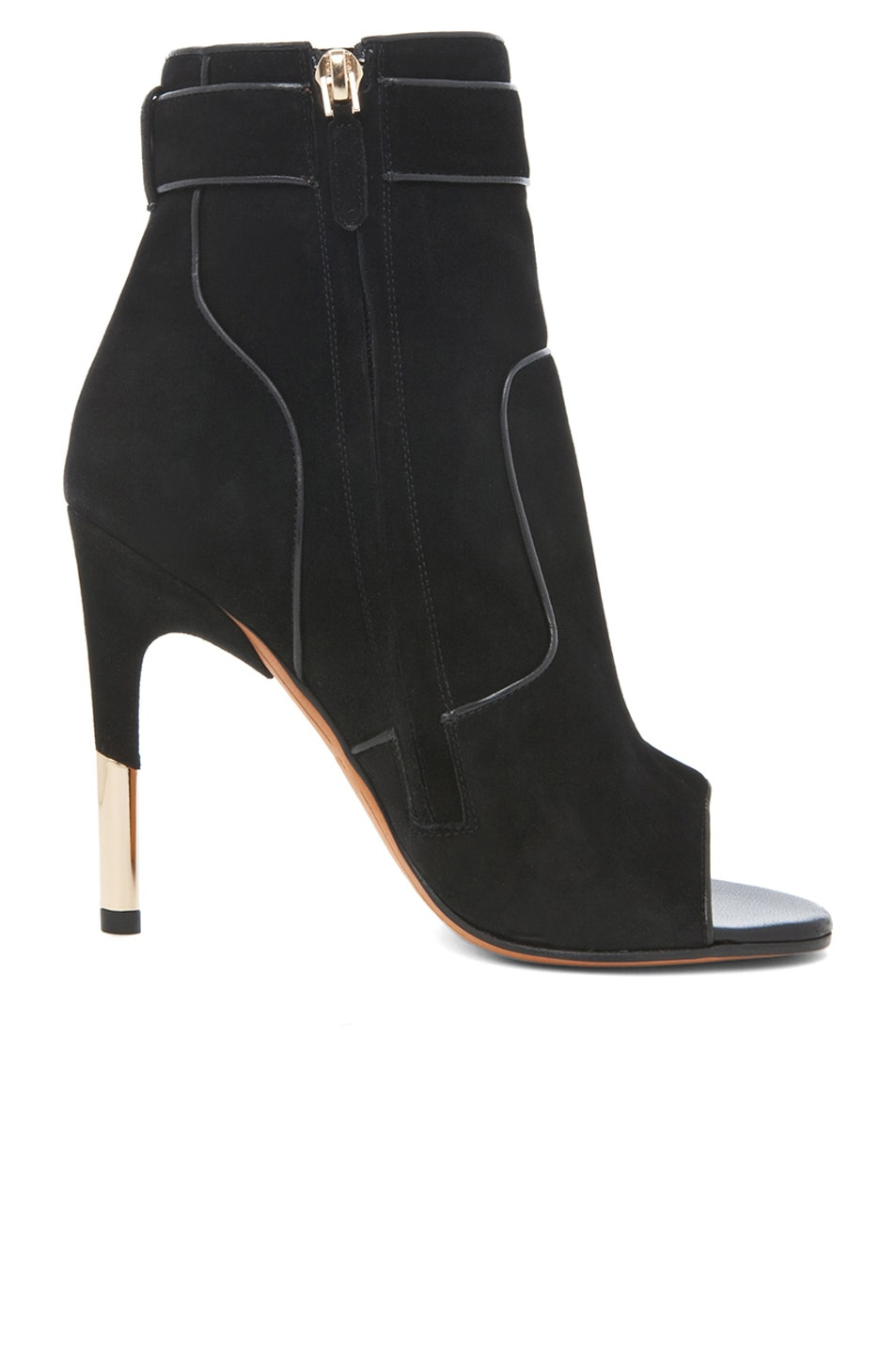 Image 5 of GIVENCHY Dunke Suede Nappa Shark Lock Bootie in Black
