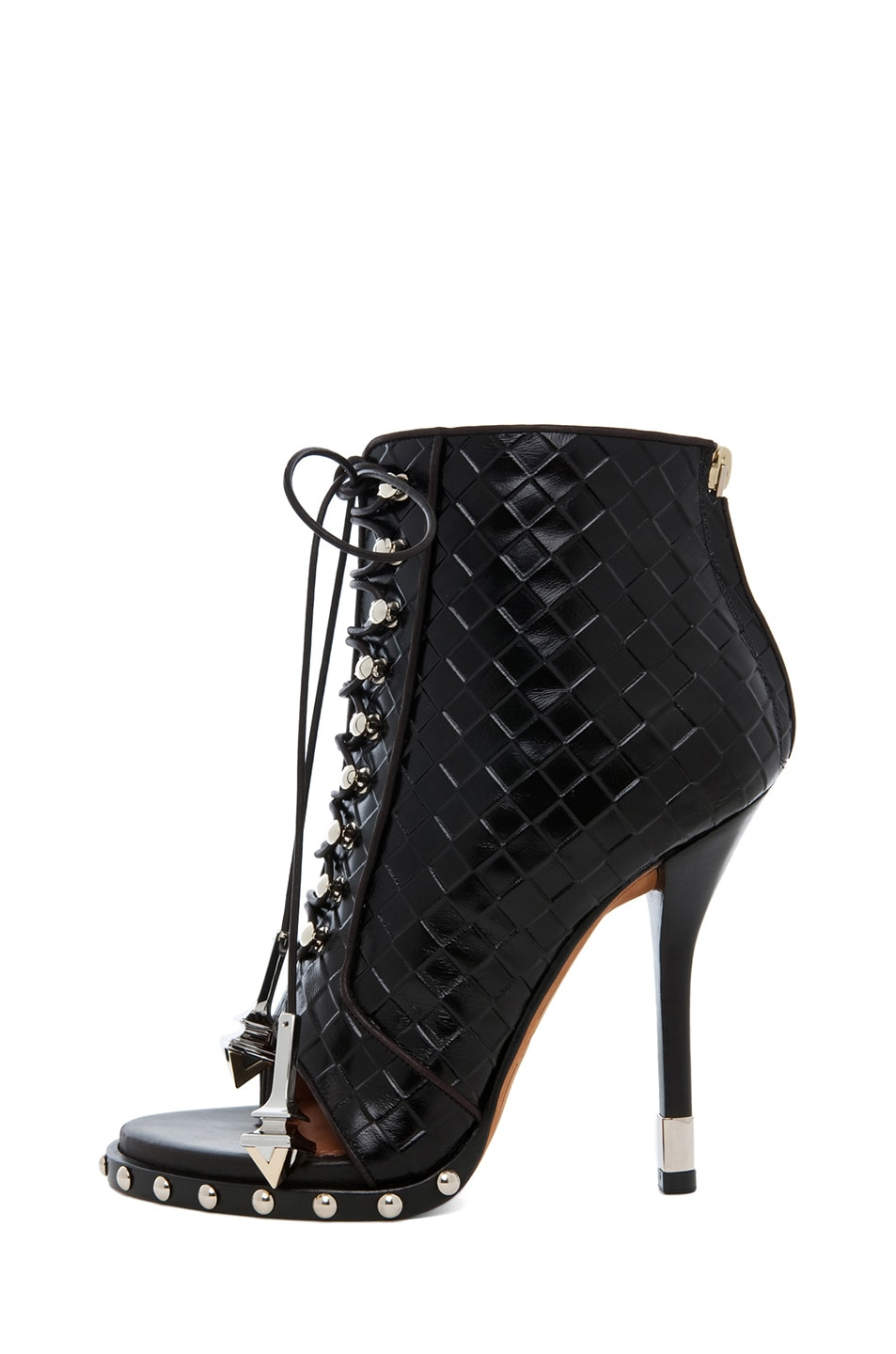 Image 1 of GIVENCHY Zac Woven Open Toe Bootie in Black