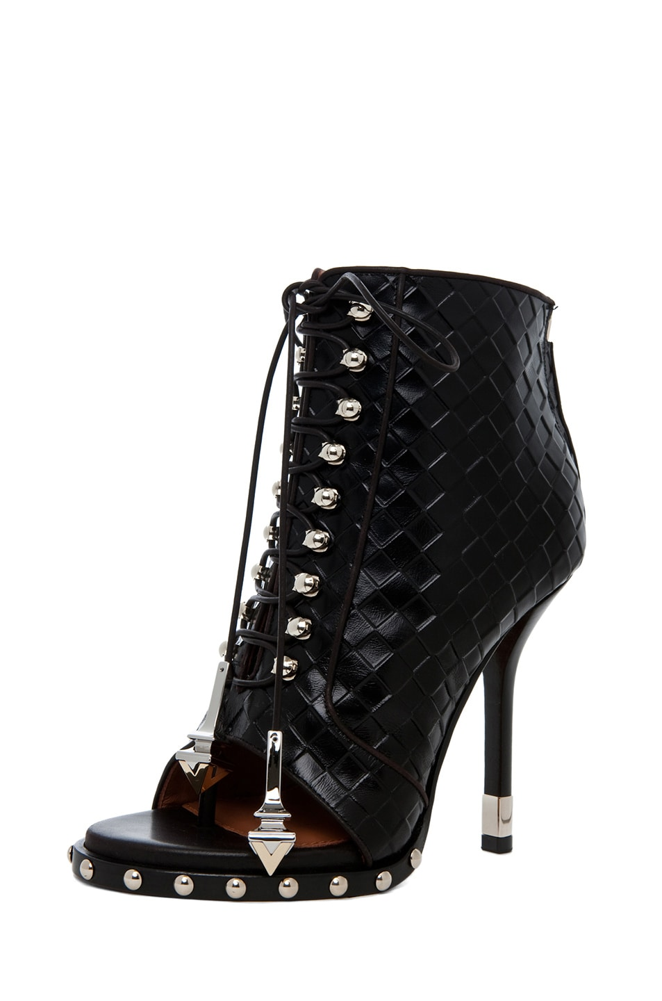 Image 2 of GIVENCHY Zac Woven Open Toe Bootie in Black