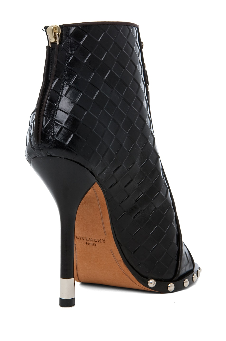 Image 3 of GIVENCHY Zac Woven Open Toe Bootie in Black