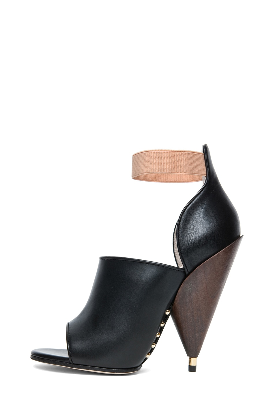 Image 1 of GIVENCHY Dunka Calfskin Leather Podium Heel in Black