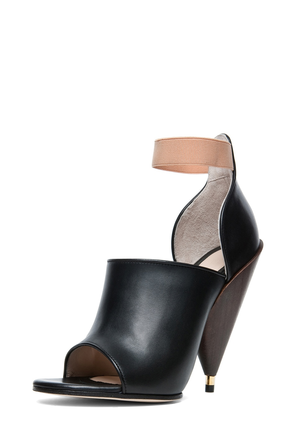 Image 2 of GIVENCHY Dunka Calfskin Leather Podium Heel in Black