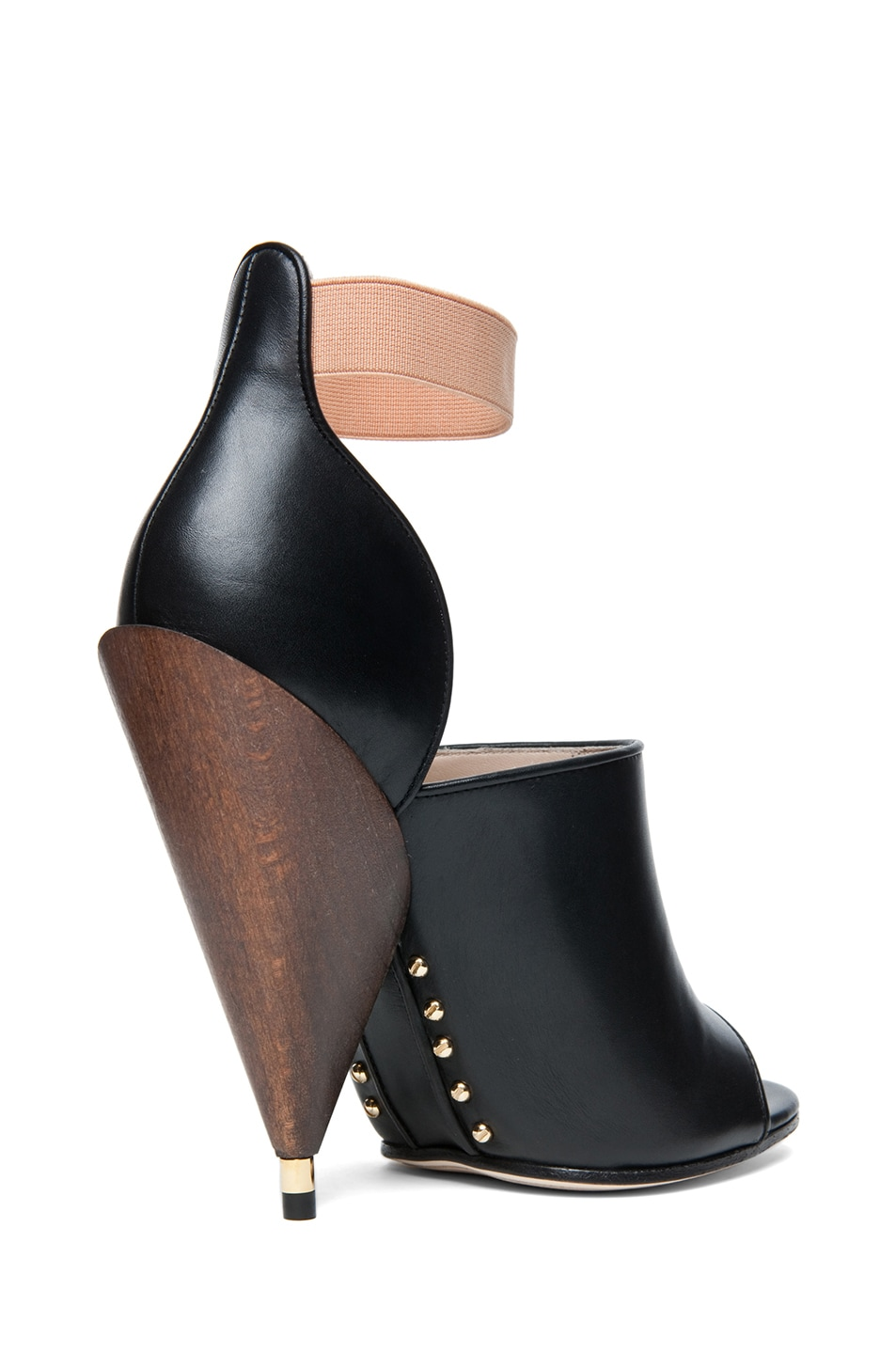Image 3 of GIVENCHY Dunka Calfskin Leather Podium Heel in Black