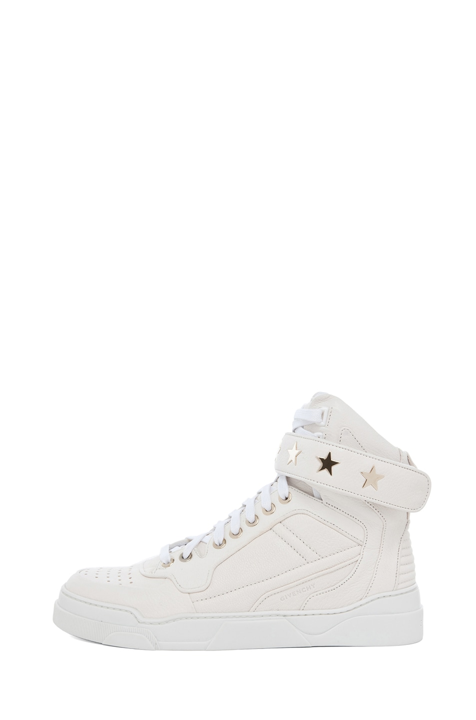 Image 1 of GIVENCHY Leather Sneakers in Optic White
