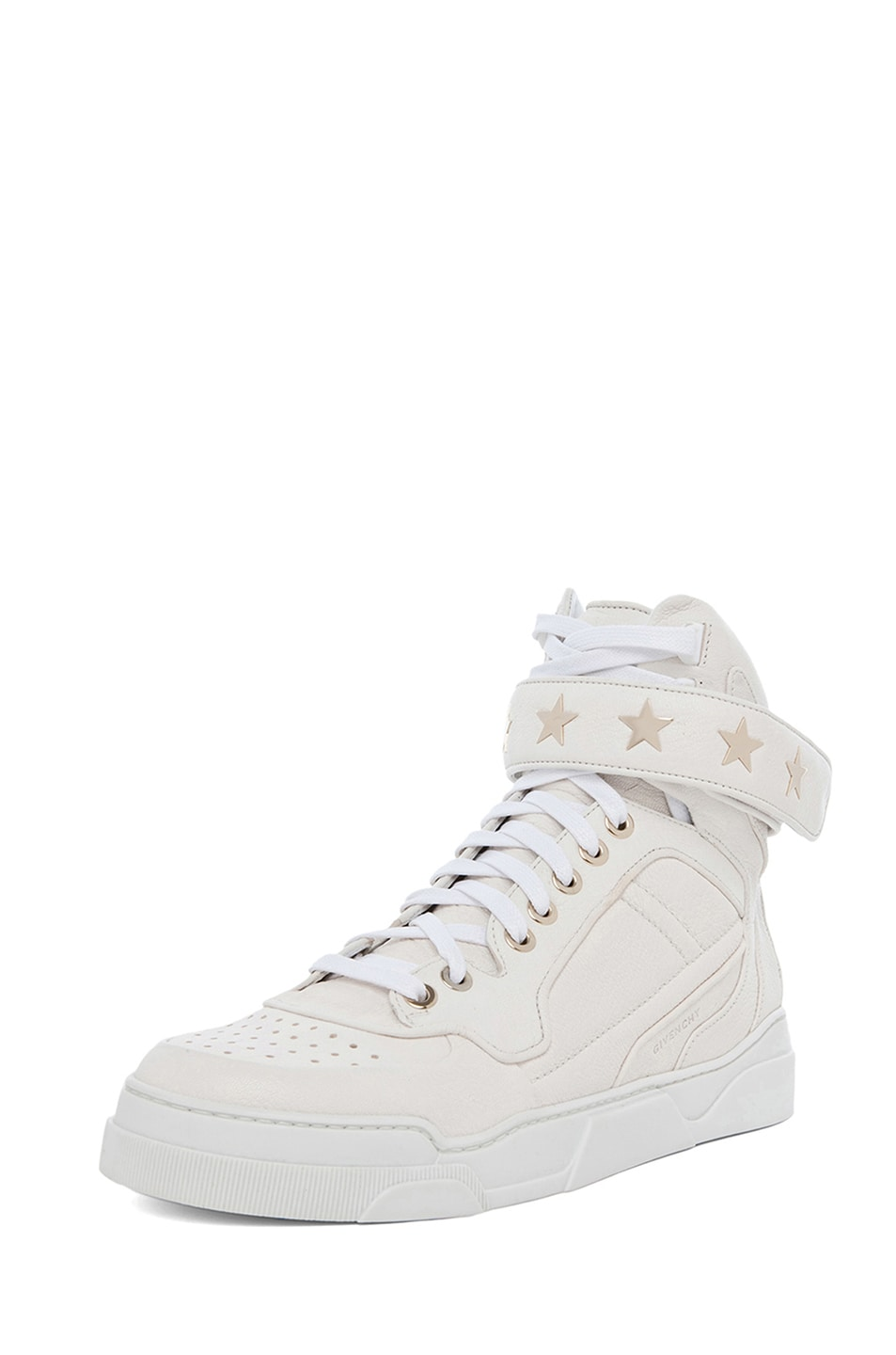 Image 2 of GIVENCHY Leather Sneakers in Optic White