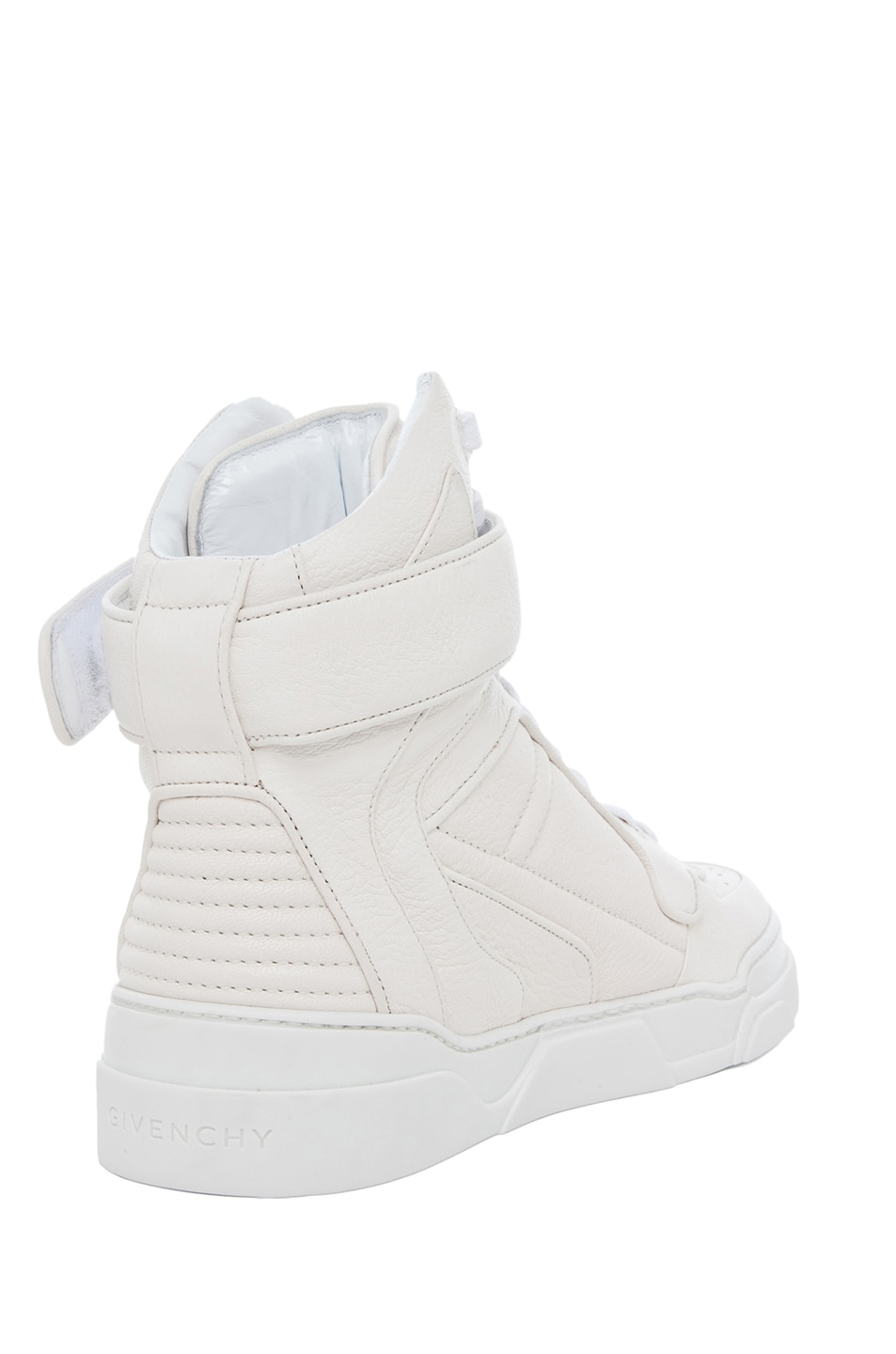 Image 3 of GIVENCHY Leather Sneakers in Optic White