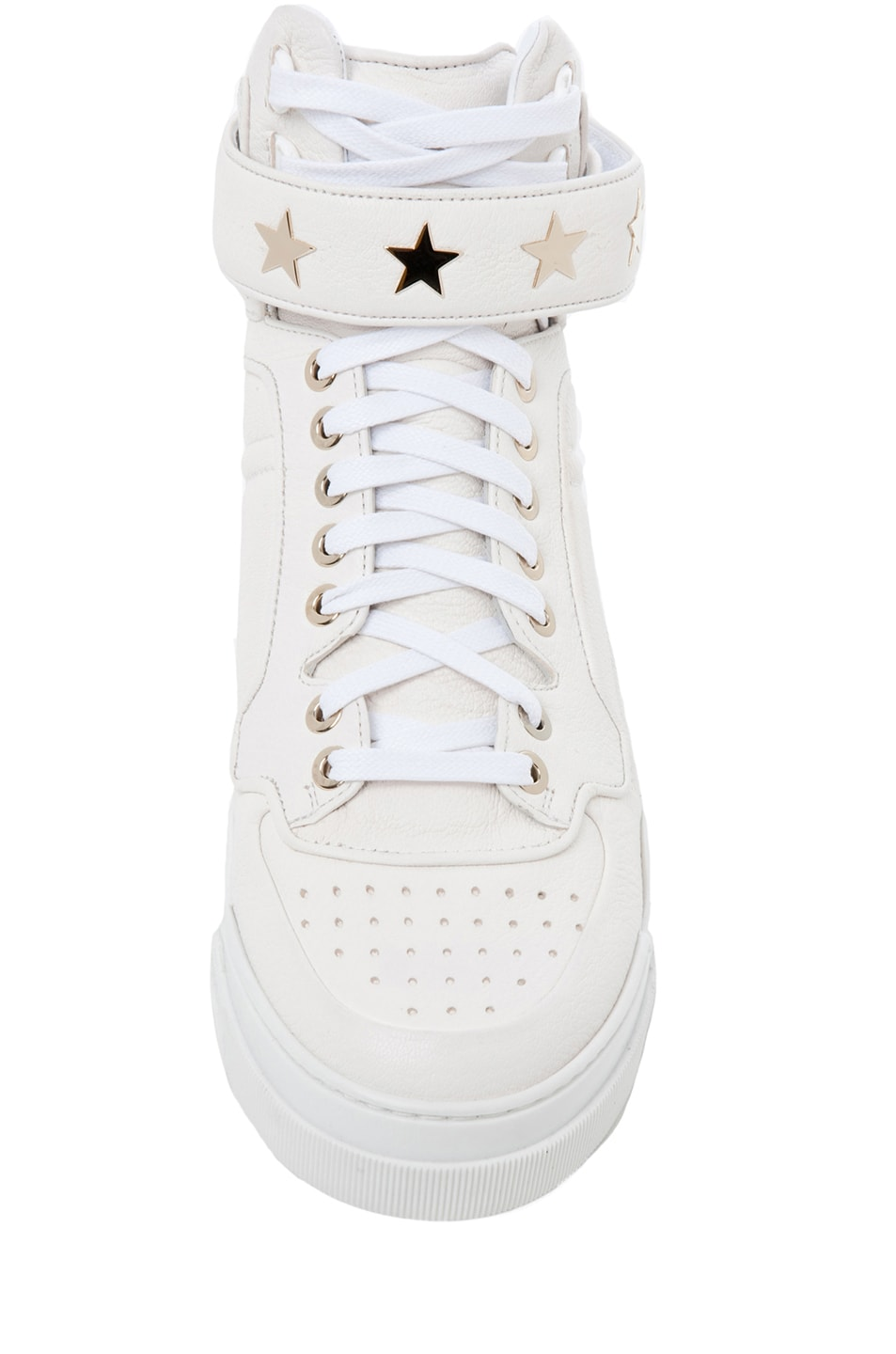 Image 4 of GIVENCHY Leather Sneakers in Optic White