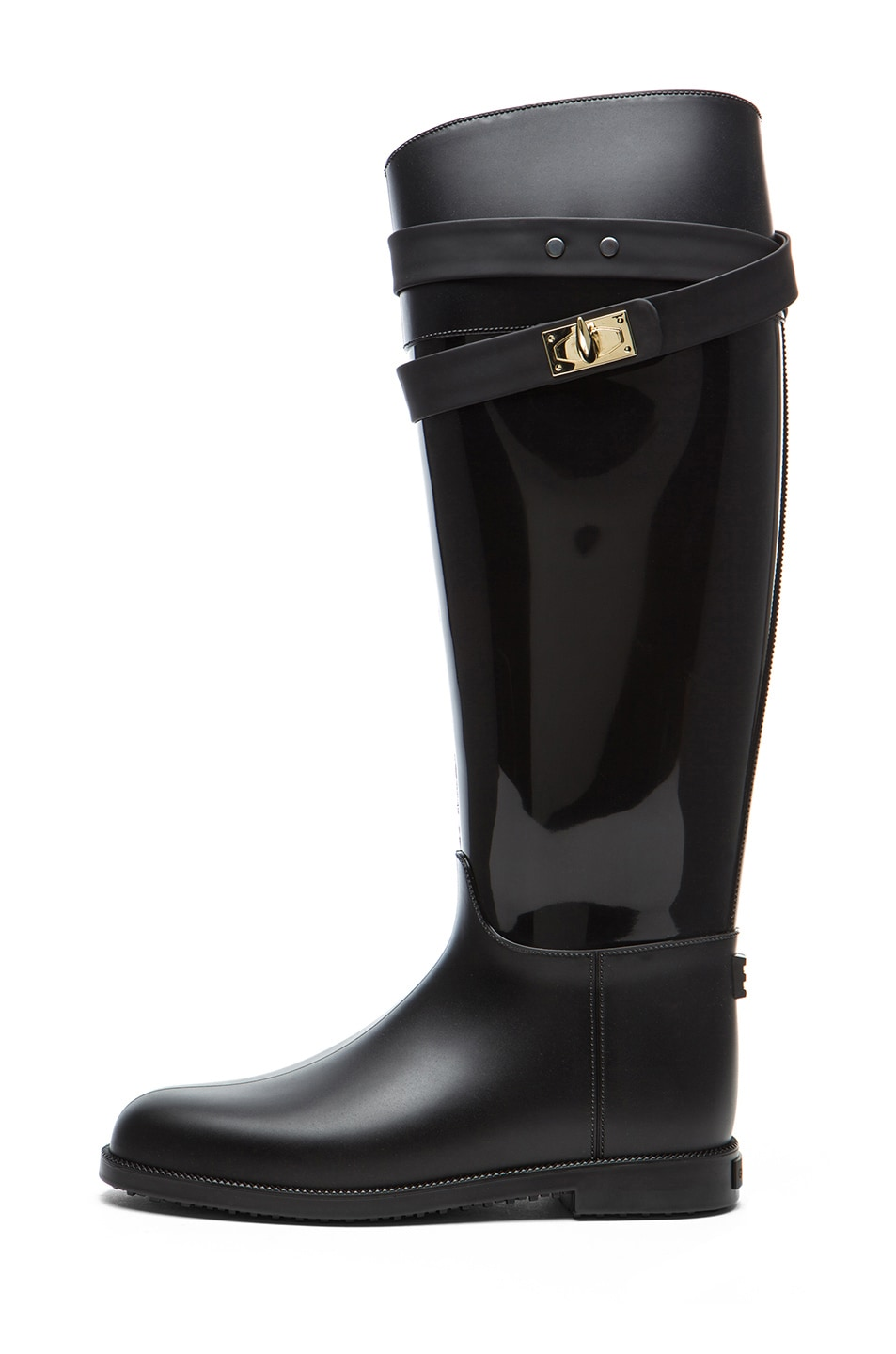 Image 1 of GIVENCHY Rider Shark Lock Rubber Rain Boot in Black