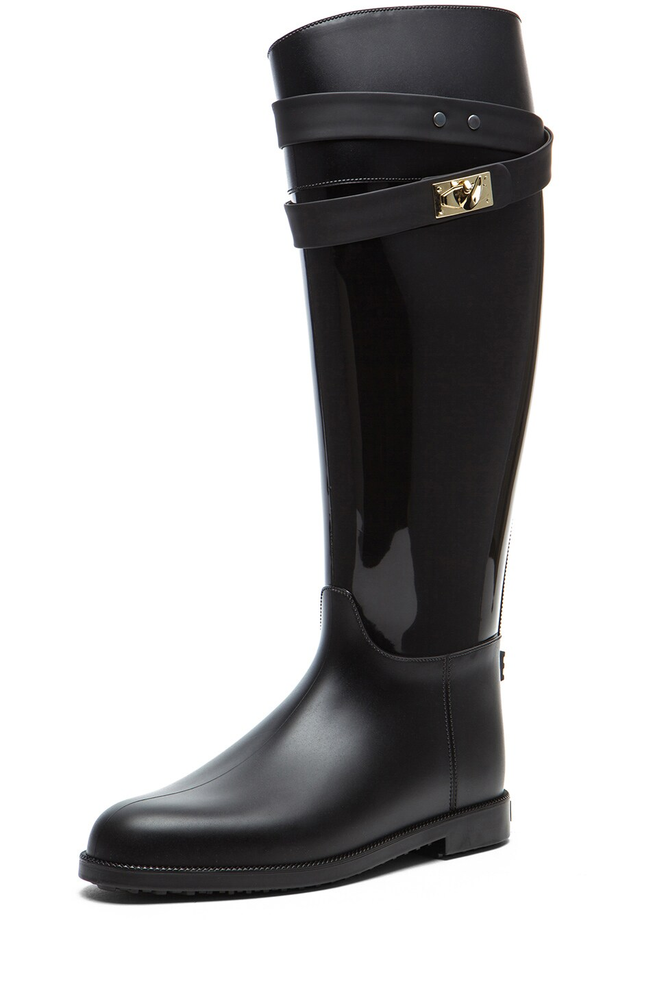 Image 2 of GIVENCHY Rider Shark Lock Rubber Rain Boot in Black