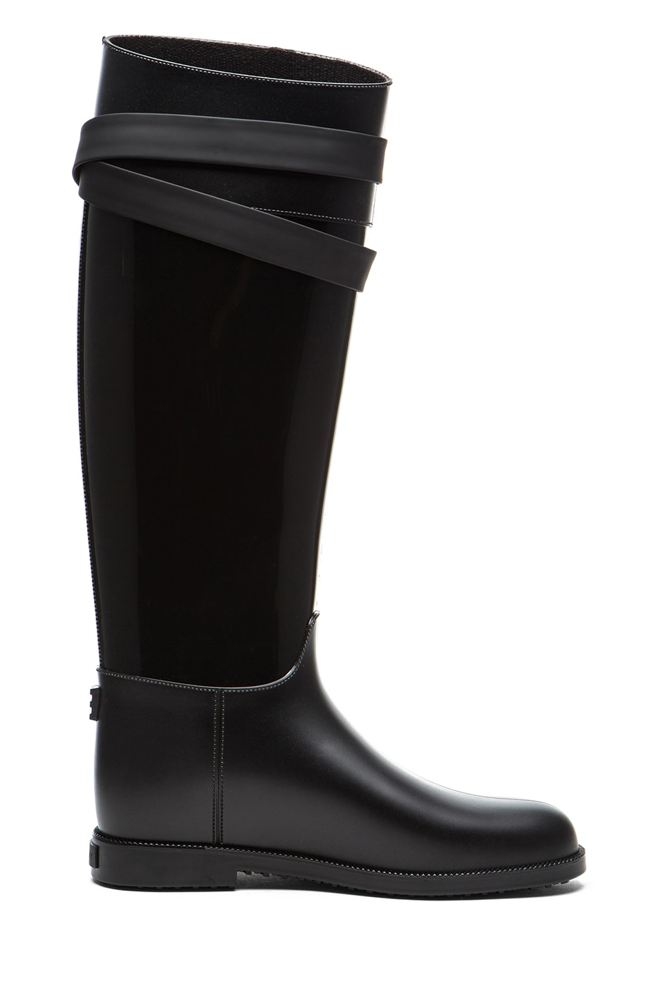 Image 5 of GIVENCHY Rider Shark Lock Rubber Rain Boot in Black
