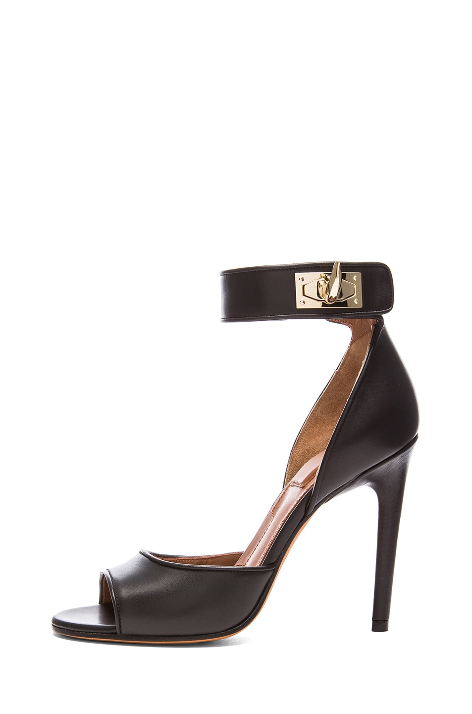 Image 1 of GIVENCHY Shark Lock Calfskin Leather Heels in Black