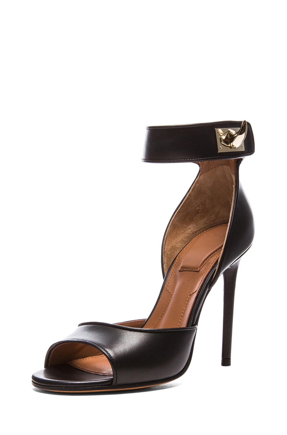 Image 2 of GIVENCHY Shark Lock Calfskin Leather Heels in Black