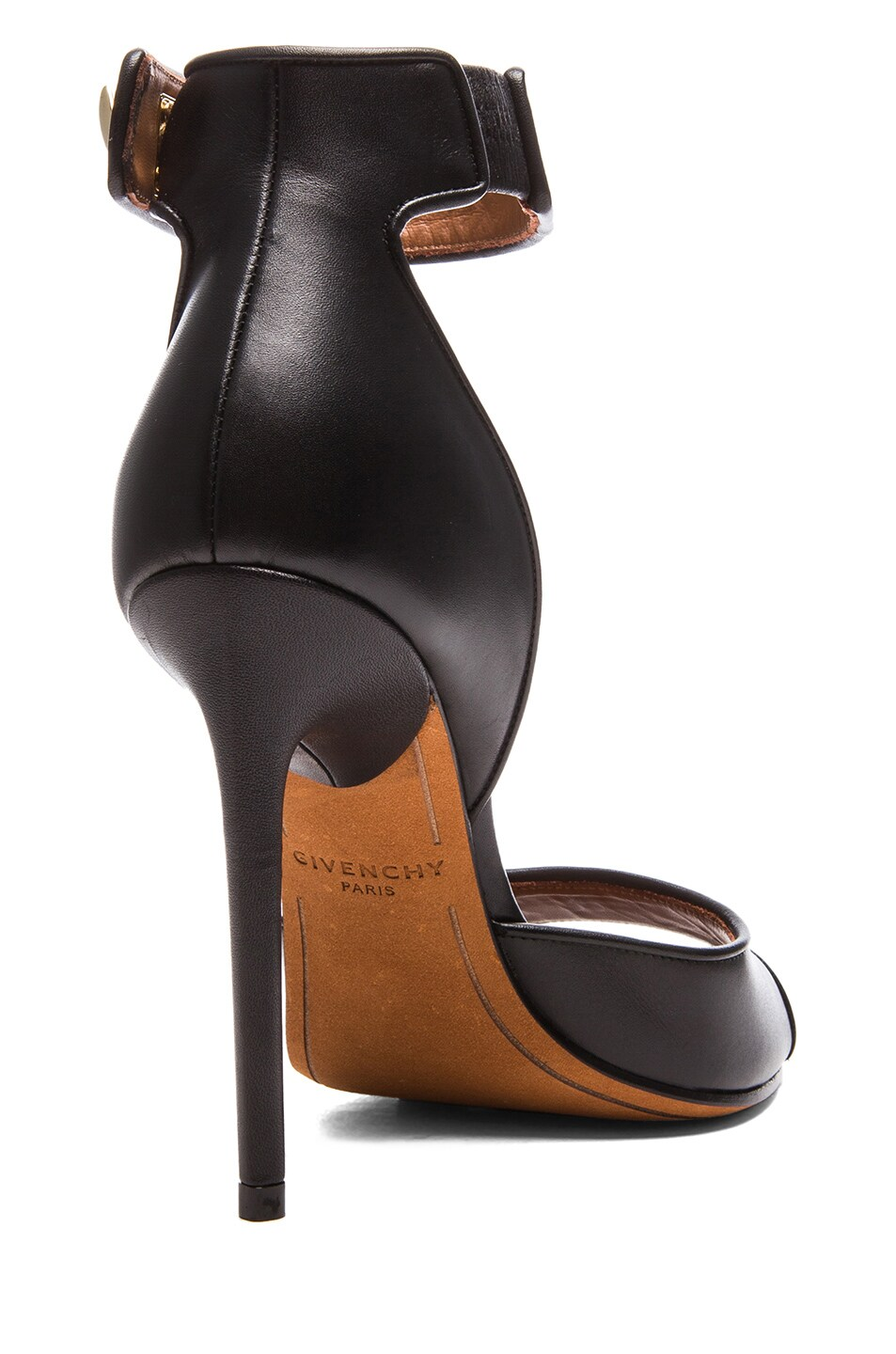Image 3 of GIVENCHY Shark Lock Calfskin Leather Heels in Black