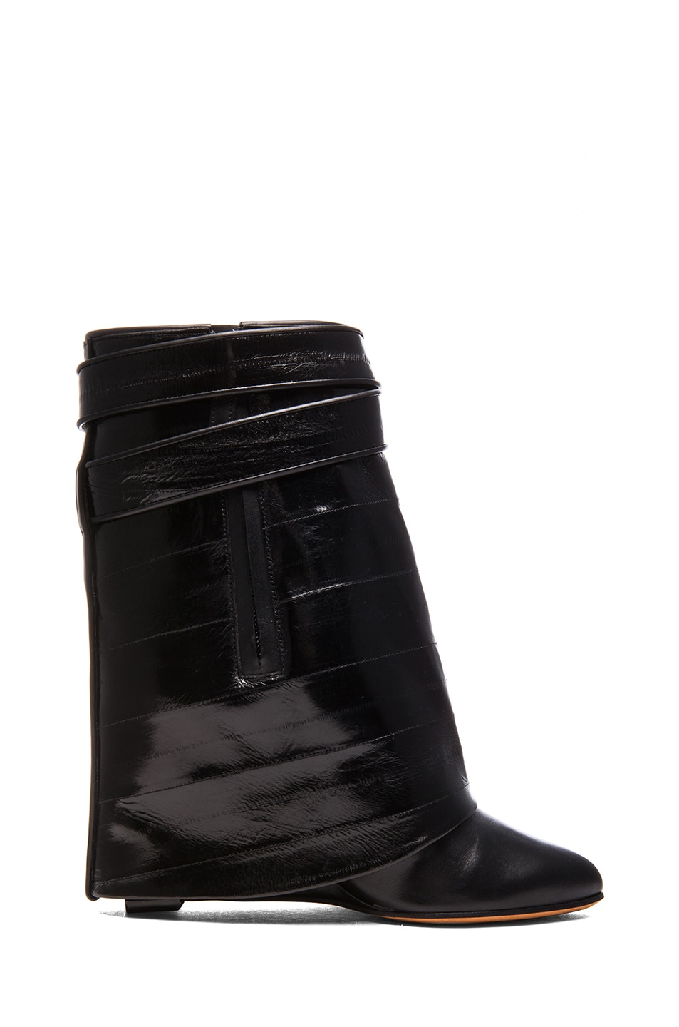 Image 5 of GIVENCHY Shark Lock Eelskin & Calfskin Leather Boots in Black