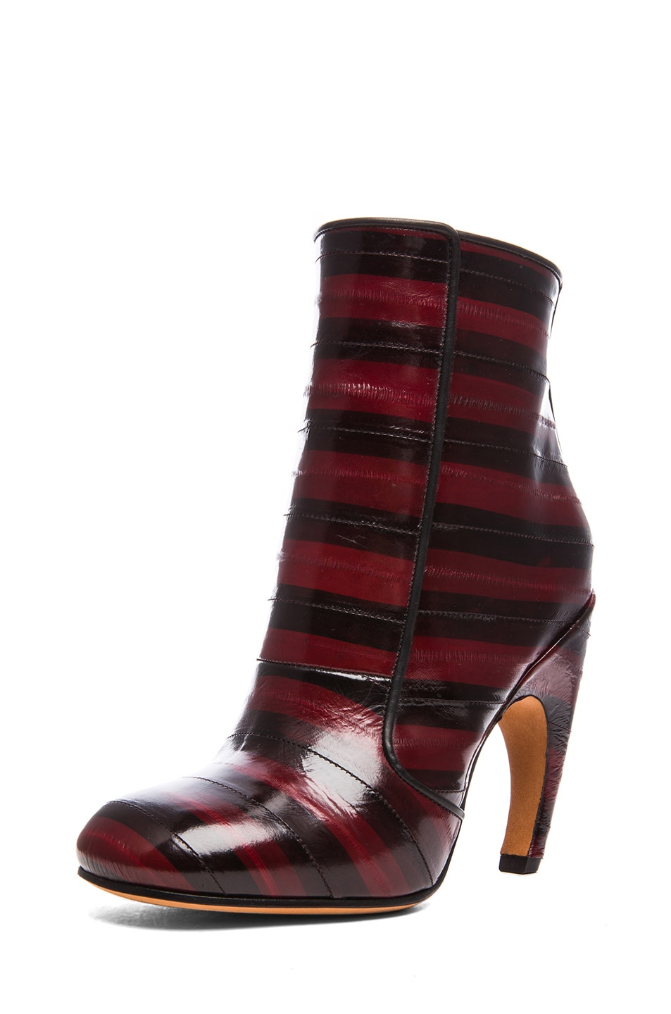 Image 2 of GIVENCHY Eelskin Booties in Bordeaux