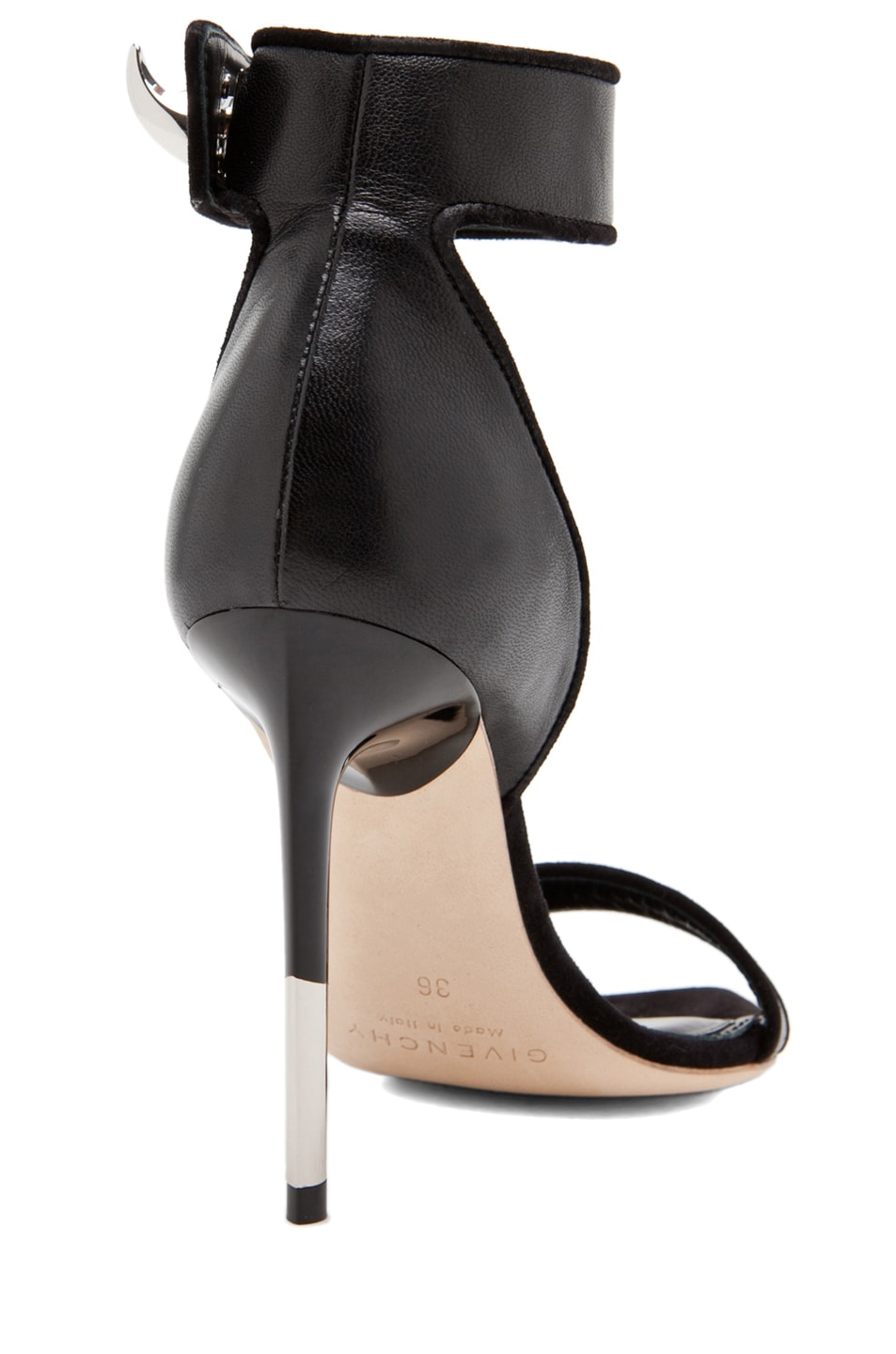 Image 3 of GIVENCHY Guerra Nappa Leather Heel in Black