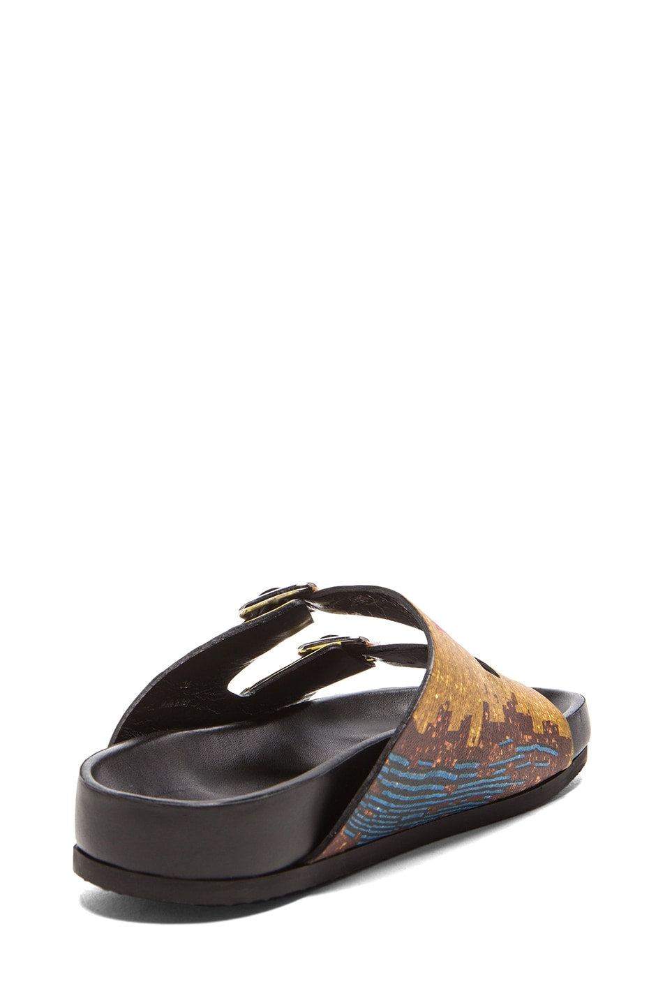 Image 3 of GIVENCHY Printed Swiss Leather Sandals in Multi