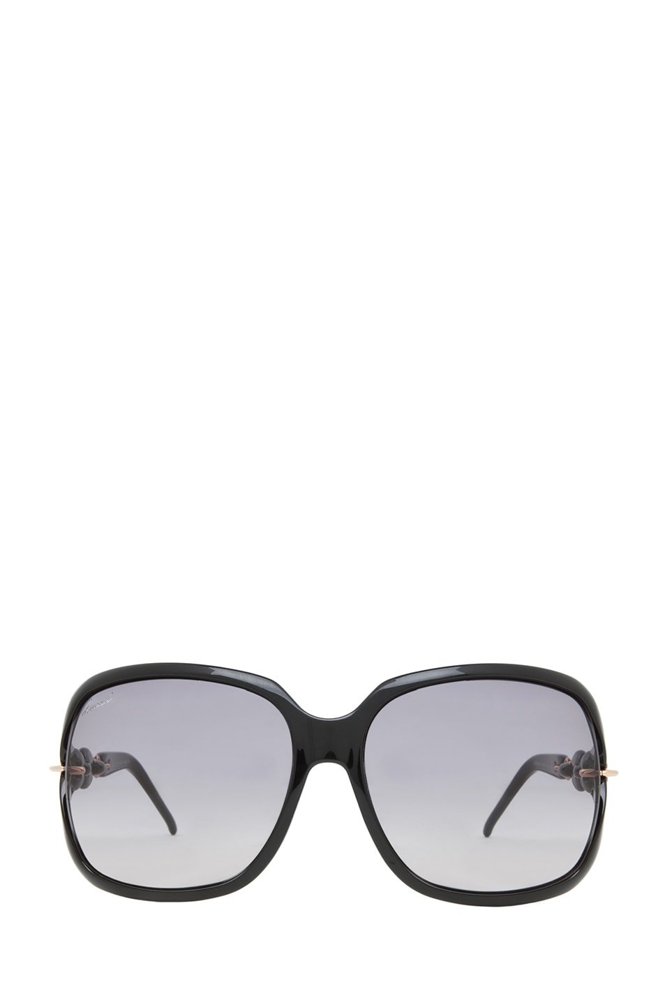 Image 1 of Gucci 3584 Sunglasses in Shiny Black & Dark Gray Ochre