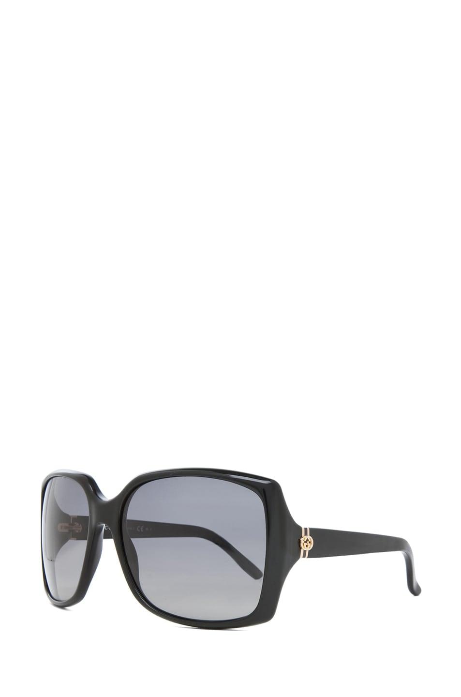 Image 2 of Gucci 3589 Sunglasses in Black & Gray Polarized