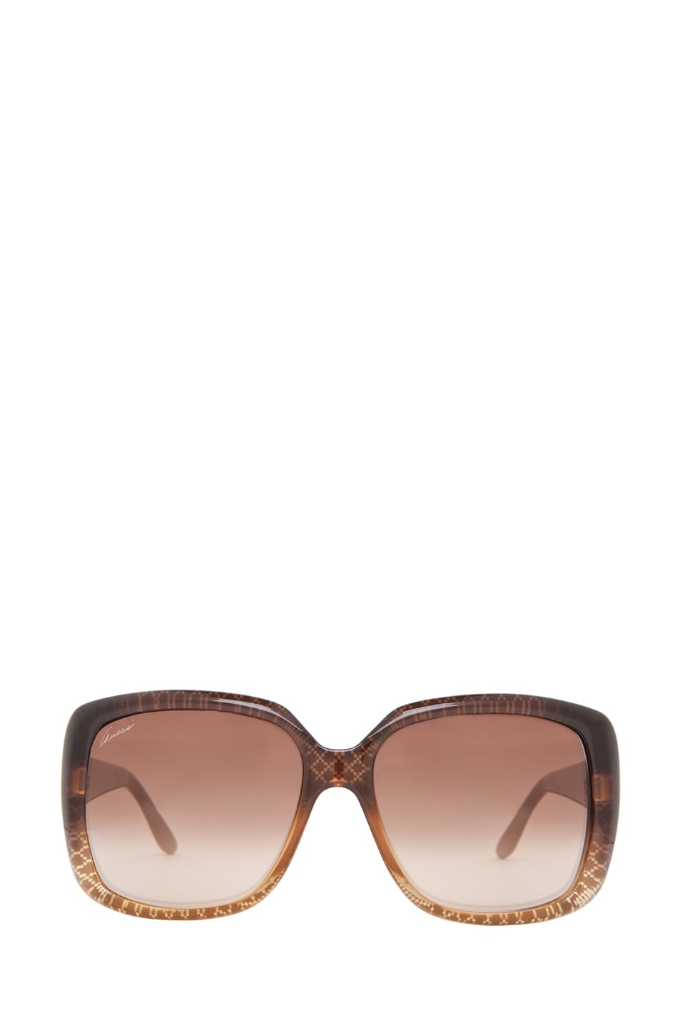 Image 1 of Gucci 3574 Sunglasses in Cuir Gold Diamond & Brown Gradient